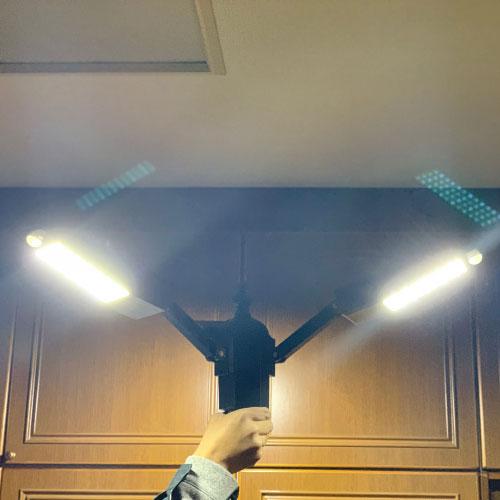 災害用ソーラー照明・外灯 sigen-l2t 室内点灯の様子